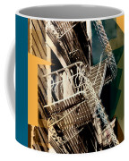 Fire Escapes In Blue And Gold Coffee Mug
