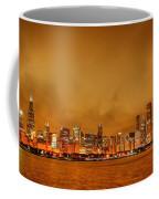 Fire In A Chicago Night Sky Coffee Mug