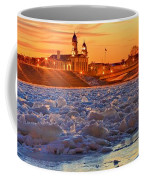 Fire Over The Clinton County Courthouse Coffee Mug
