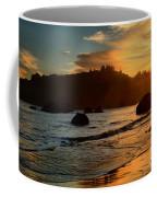 Fire Over Trinidad Beach Coffee Mug