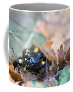 Fire Salamander Dry Leaves Coffee Mug
