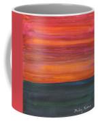 Fire Sky Over The Sea Coffee Mug