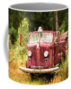 Fire Truck Digital Painted Coffee Mug