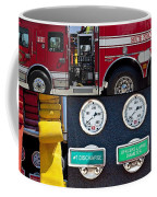 Fire Truck With Isolated Views Coffee Mug