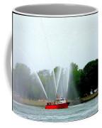 Fireboat Water Show On Long Island Sound Coffee Mug