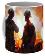 Firefighters At The Scene Coffee Mug