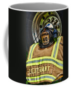 Fireman Turnout Gear Lieutenant Coffee Mug