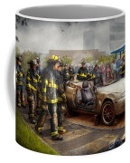 Firemen - The Fire Demonstration Coffee Mug by Mike Savad