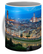 Firenze By Night Coffee Mug by Inge Johnsson