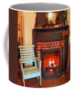 The Family Hearth - Fireplace Old Rocking Chair Coffee Mug