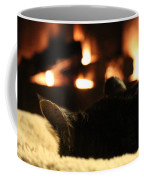 Fireside Cat Nap Coffee Mug