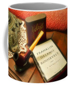 Fireside Chats With Fdr 05 With A Pipe And Book Coffee Mug