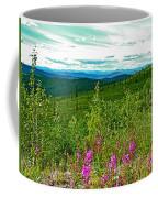 Fireweed And Mountains From Top Of The World Highway-yukon Coffee Mug