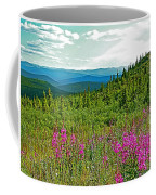 Fireweed Near Top Of The World Highway-alaska Coffee Mug