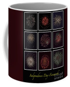 Fireworks - Black Background Coffee Mug