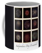 Fireworks - White Background Coffee Mug