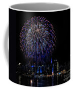 Fireworks In New York City Coffee Mug by Susan Candelario
