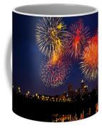 Fireworks In The City Coffee Mug