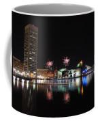 Fireworks Over Downtown Baltimore Coffee Mug