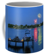 Fireworks Over Stony Creek Coffee Mug by Brian Wallace