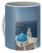 Firostefani Church On Santorini Coffee Mug
