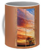 First Dawn Barn Wood Picture Window Frame View Coffee Mug by James BO  Insogna