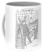 First Day In New York -- A Man On A Subway Coffee Mug