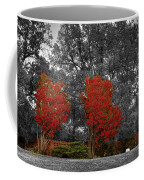 First Fall Color In Red Coffee Mug