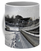 First Footsteps In The Snow Coffee Mug