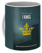 First Kings Books Of The Bible Series Old Testament Minimal Poster Art Number 11 Coffee Mug by Design Turnpike