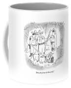 First, They Do An On-line Search Coffee Mug by Arnie Levin