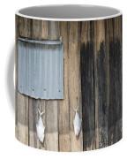 Fish Drying Outside Rustic Fisherman House Coffee Mug