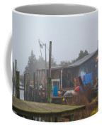 Fish House In Fog Coffee Mug