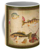 Fish Trio-a-greenborder Coffee Mug