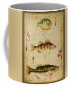 Fish Trio-c-basket Weave Coffee Mug