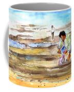 Fisherman On Las Canteras Beach Coffee Mug