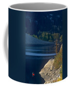 Fisherman On Lundy Lake Eastern Sierras California Coffee Mug