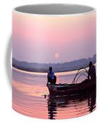 Fisherman On The Ganges River At Varanasi Coffee Mug