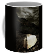 Fishermans Boat Parked On The Beach Coffee Mug