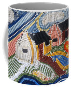 Fishermans Cottages String Collage Coffee Mug