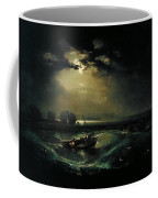 Fishermen At Sea Coffee Mug