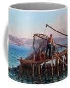 Fishermen Bringing In The Catch Coffee Mug