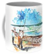 Fishermen In Praia De Mira 02 Coffee Mug