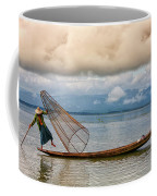 Fishermen In The Inle Lake. Myanmar Coffee Mug