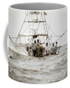 Fishermen Reel In Line From The Back Coffee Mug