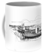 Fishers At Rest Ocracoke Nc 1970s Coffee Mug