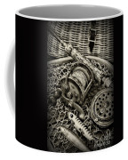 Fishing - All That Gear In Black And White Coffee Mug