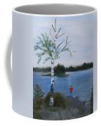 Fishing At First Connecticut Lake Coffee Mug