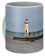Fishing Boat And Lighthouse Coffee Mug