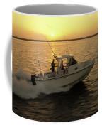 Fishing Boat Coming In At Sunset Coffee Mug